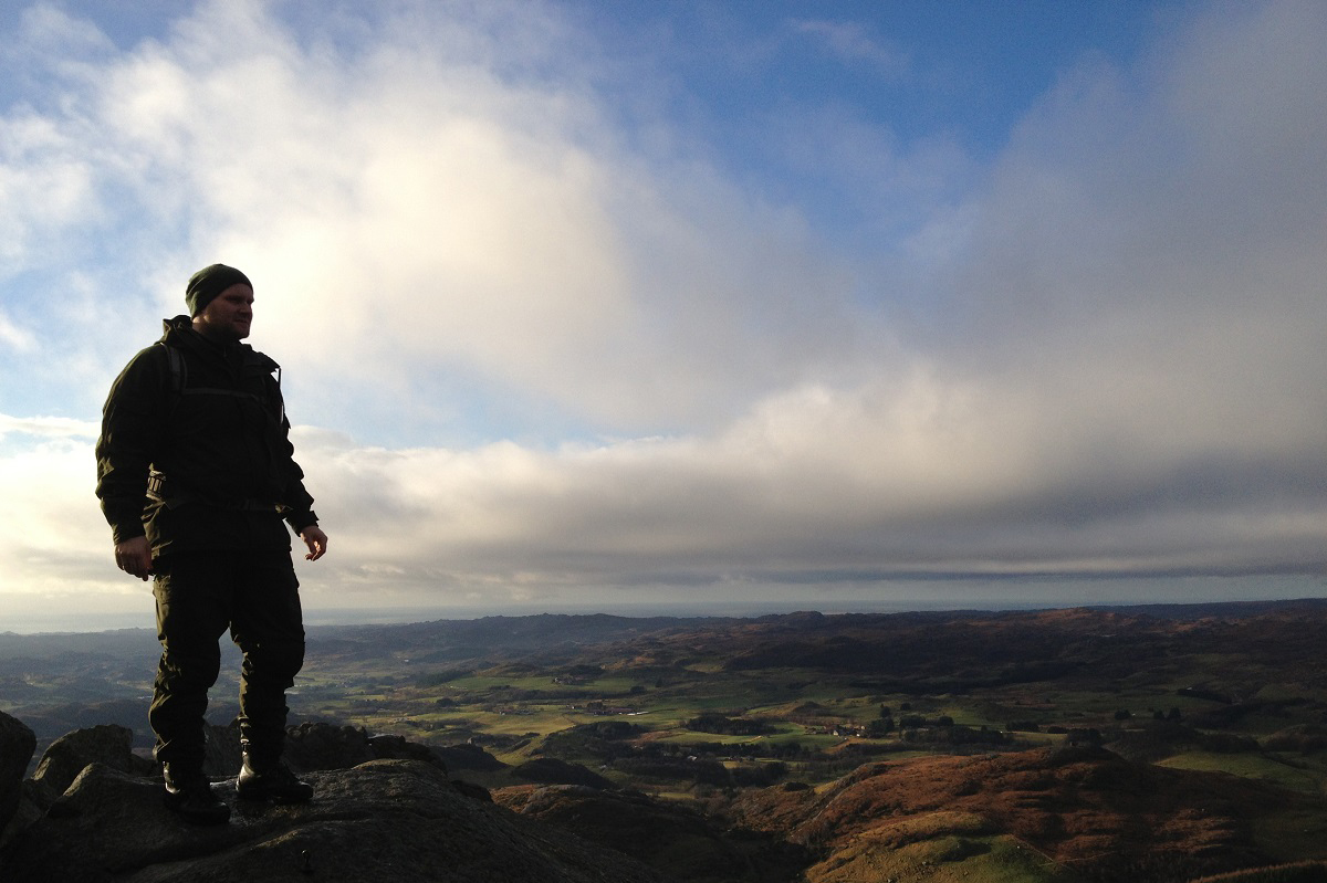 Solbjørgnipa - God utsikt fra toppen nytes!
