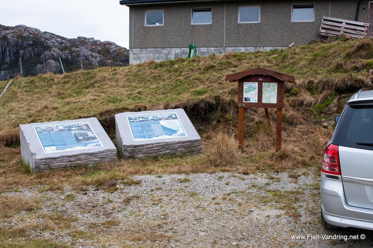 Ramnafjellet - Parkering i Åsen i Bjerkreim kommune