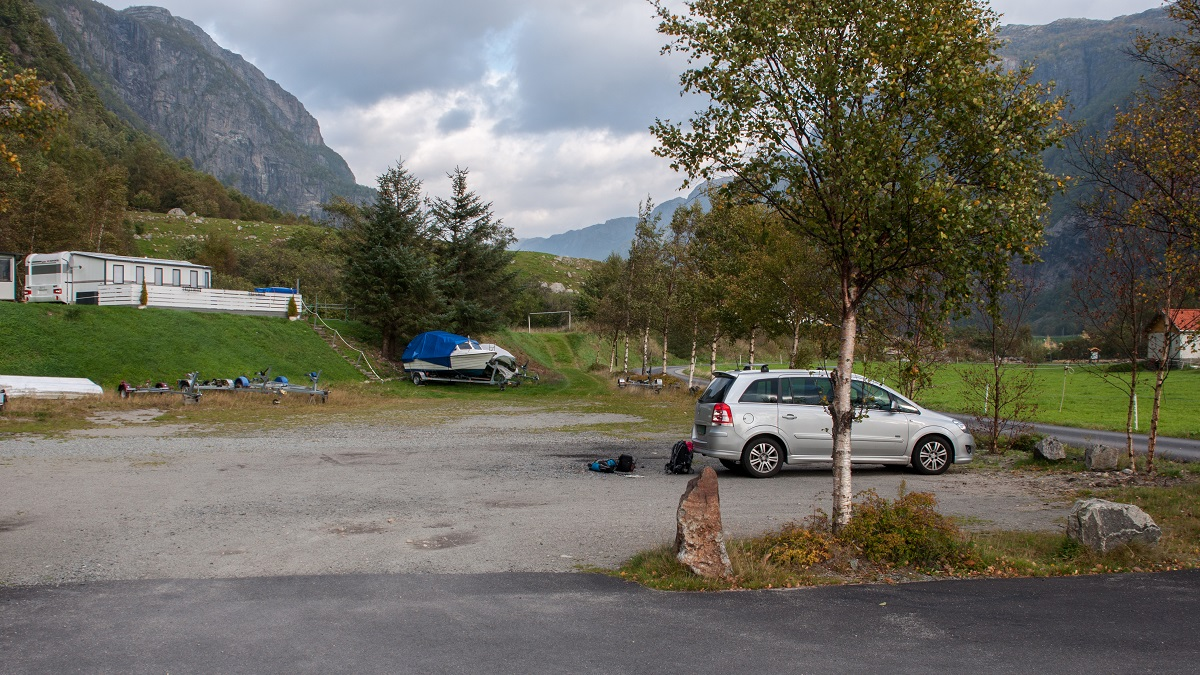 Frafjordhatten - Parkering ved Øyren (Frafjorden)