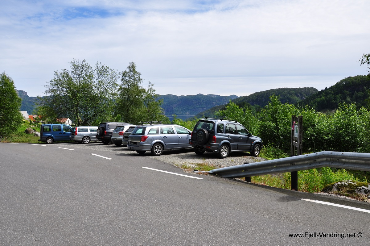 Gullbergknuden - Parkering v/ Gursli i Lund kommune