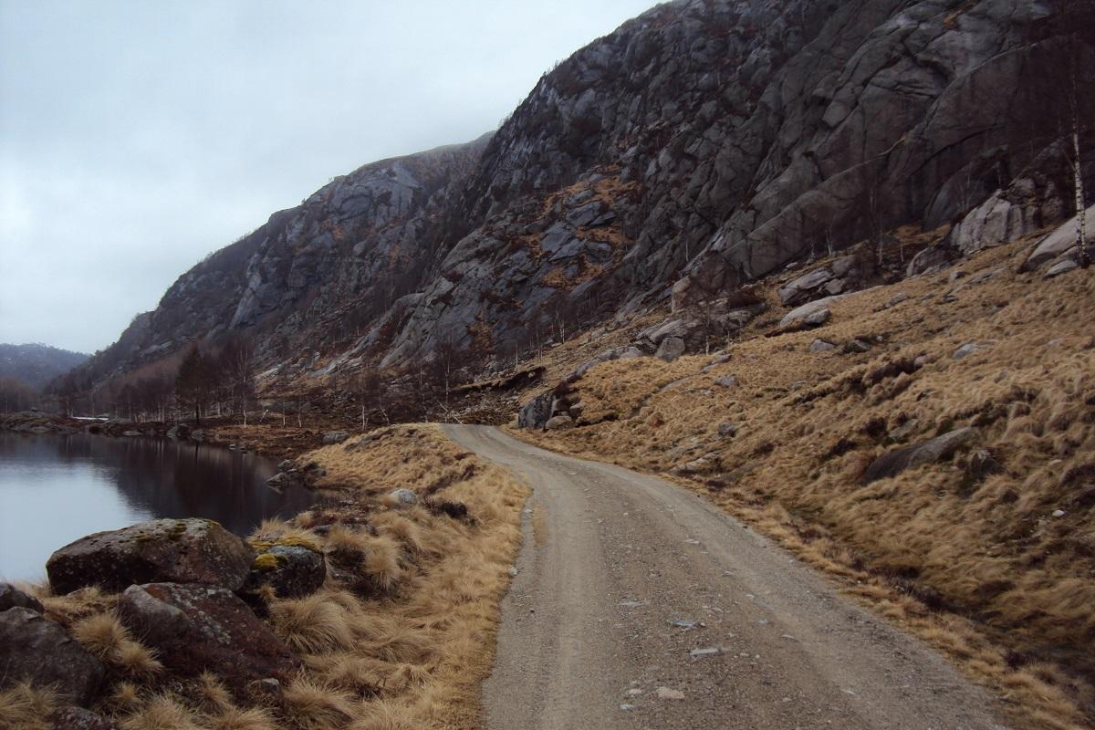 Hest - Grusvei langs Sætravatnet