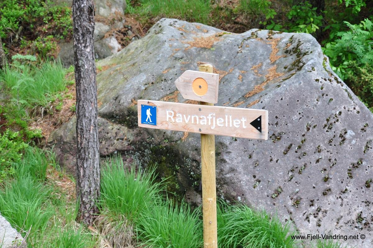 Ravnafjellet og Årstadfjellet - Vi nærmer oss turens første topp
