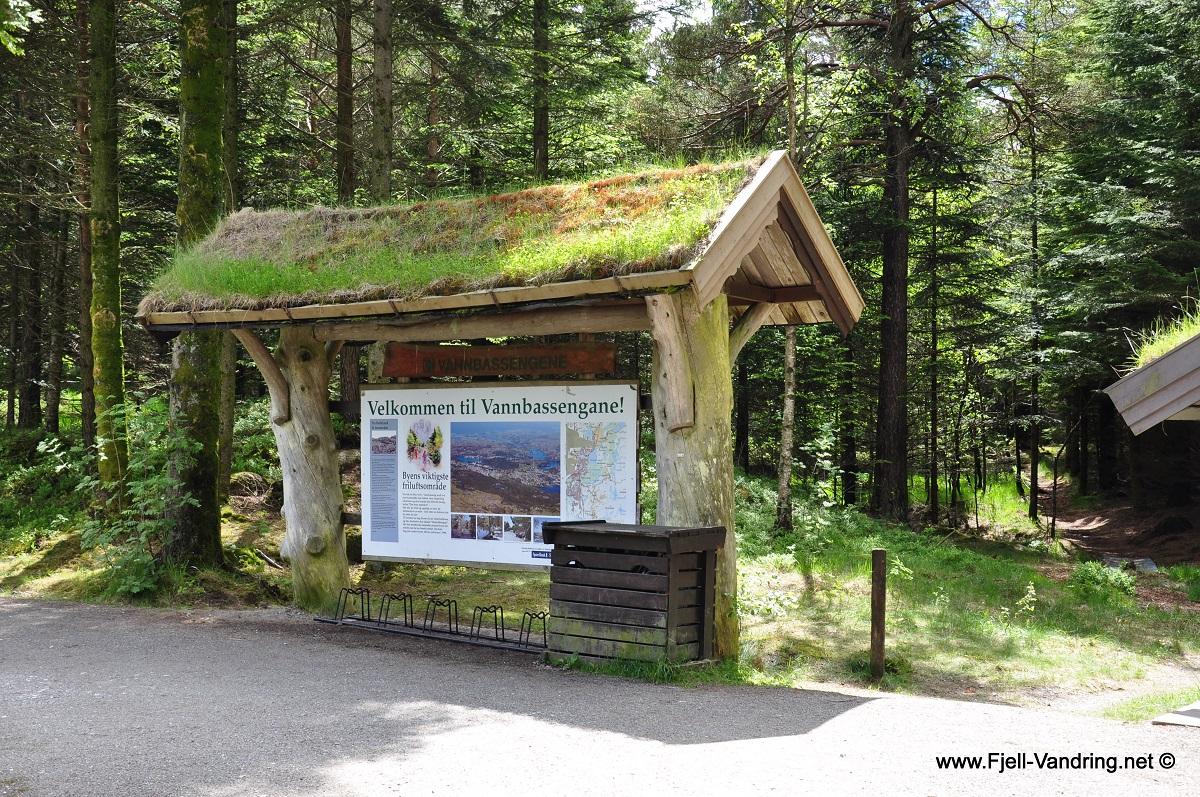 Ravnafjellet og Årstafjellet - Badeplassen i Vannbassengane