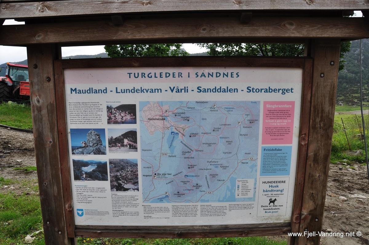 Storaberget - Turskilt ved Hogstad gård