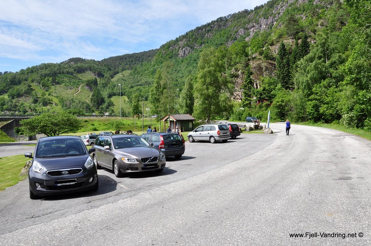 Bringedal - Parkering v/ Tronvik rasteplass langs E39 i Lund kommune