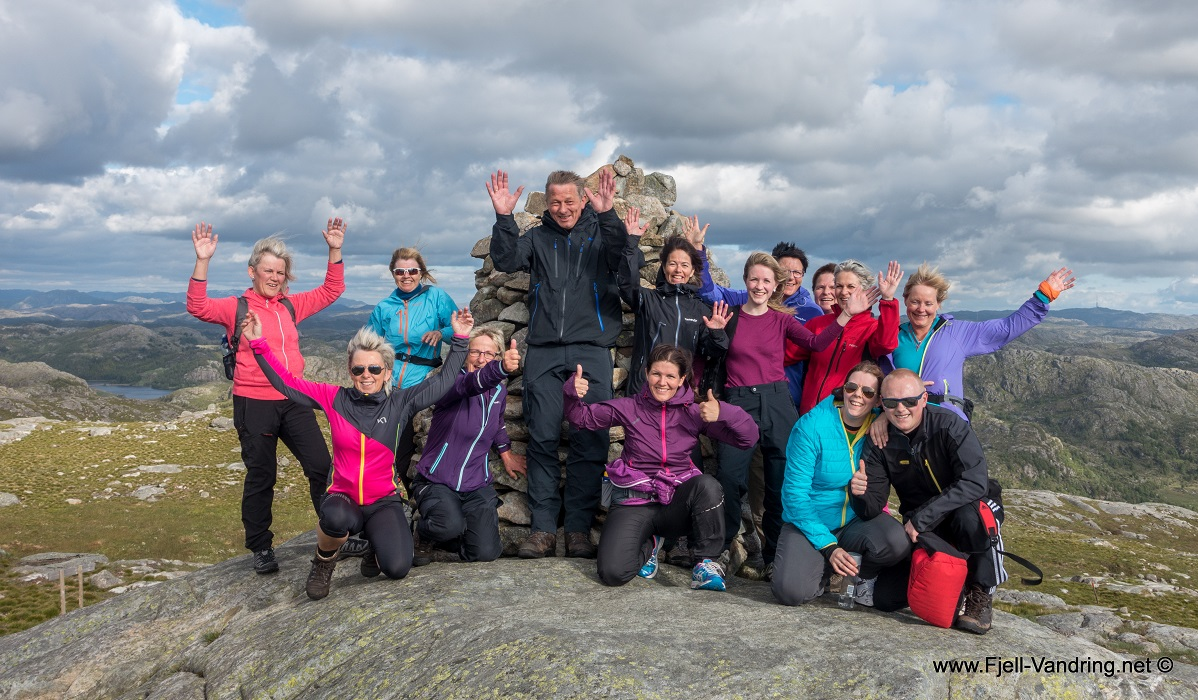Bursfjellet - Lettgått topp og rundtur fra Eikeland
