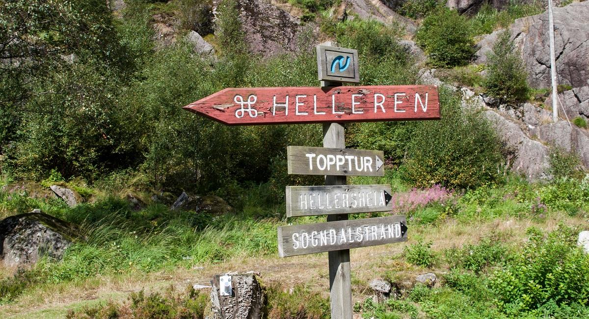 Hellersheia - Merket og skiltet topptur