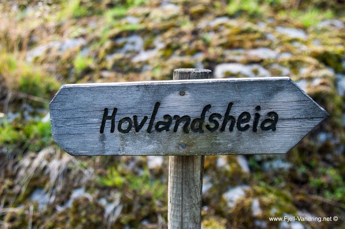 Hovlandsheia - Merket og skiltet fottur