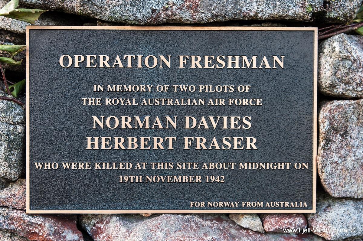 Hovlandsheia - Minnesmerke etter Operasjon Freshman