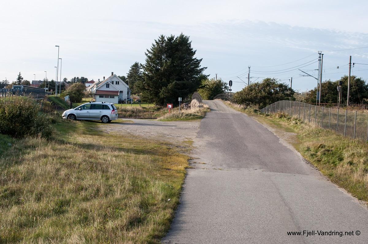 Jærkysten - Parkering på Brusand