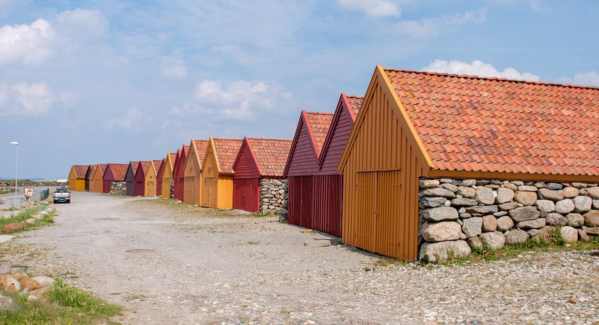 Jærkysten - Båthusa langs Sele havn