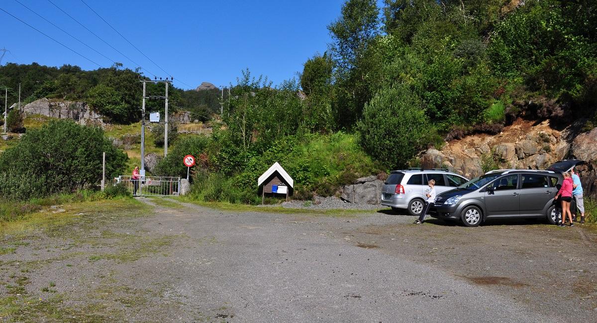 Kvidaheia - Parkering ved Gaudland Turisthytte