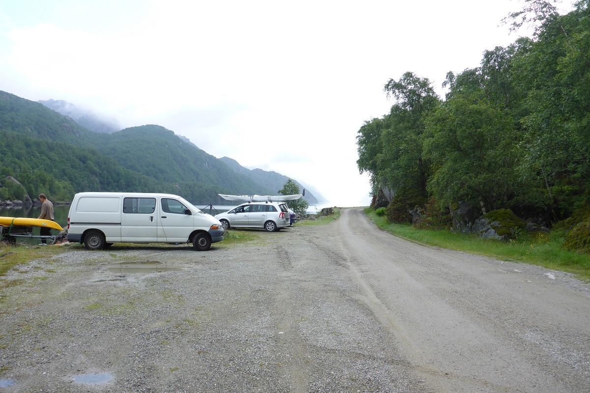Ørsdalsvatnet - Parkering på Odlandstø i Bjerkreim kommune