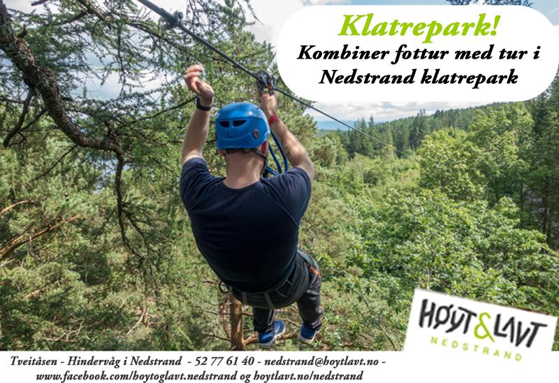 Annonse: Høyt & Lavt Nedstrand Klatrepark
