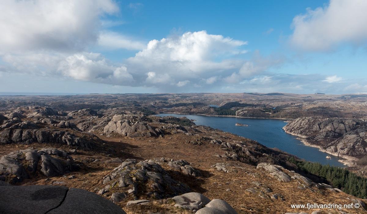 Bjørndalsnibå - Topptur fra Søra Hetland (Ogna)