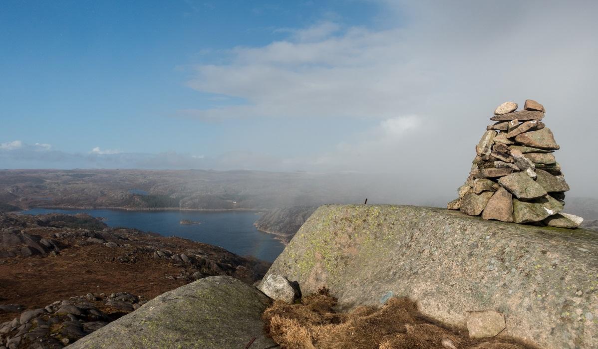 Bjørndalsnibå - Fra toppen er utsikt god på klarværsdager