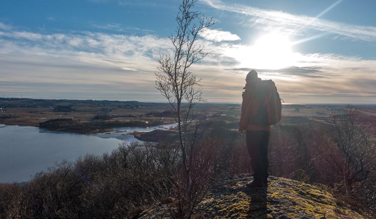 Blåfjellet - Flott utsikt utover Taksdalsvatnet
