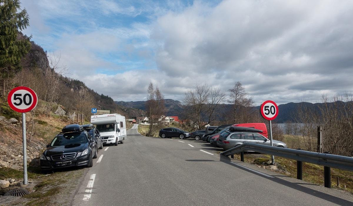 Jegningsknuten - Parkering ved Gursli i Lund kommune.