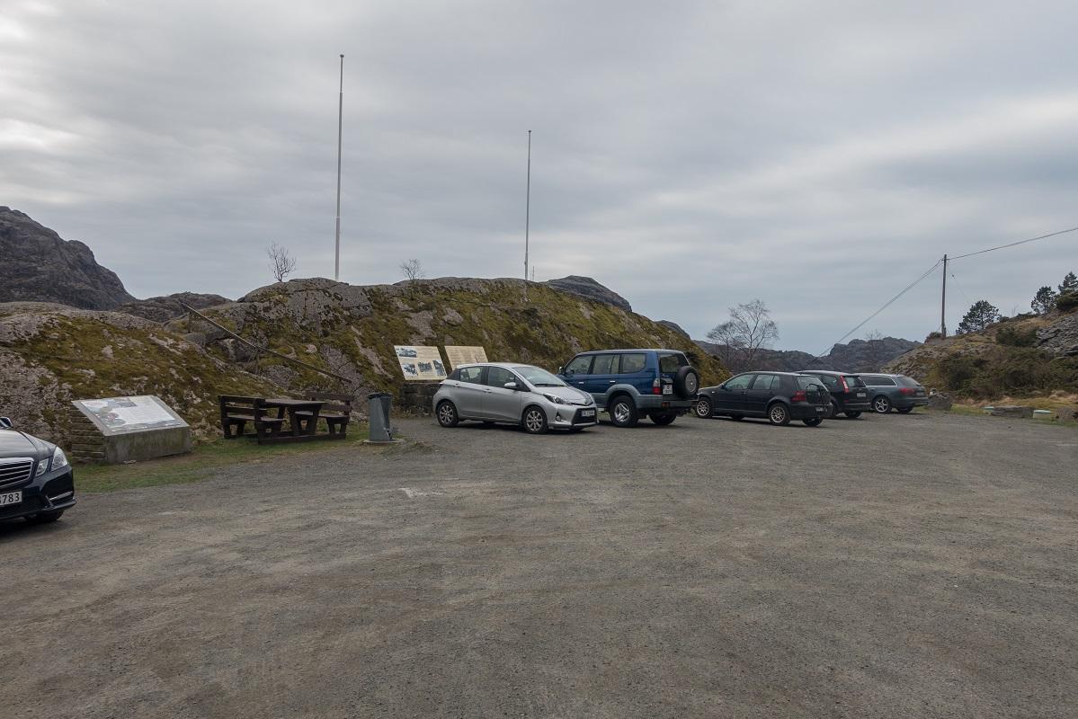 Parkering ved Jøssingfjord