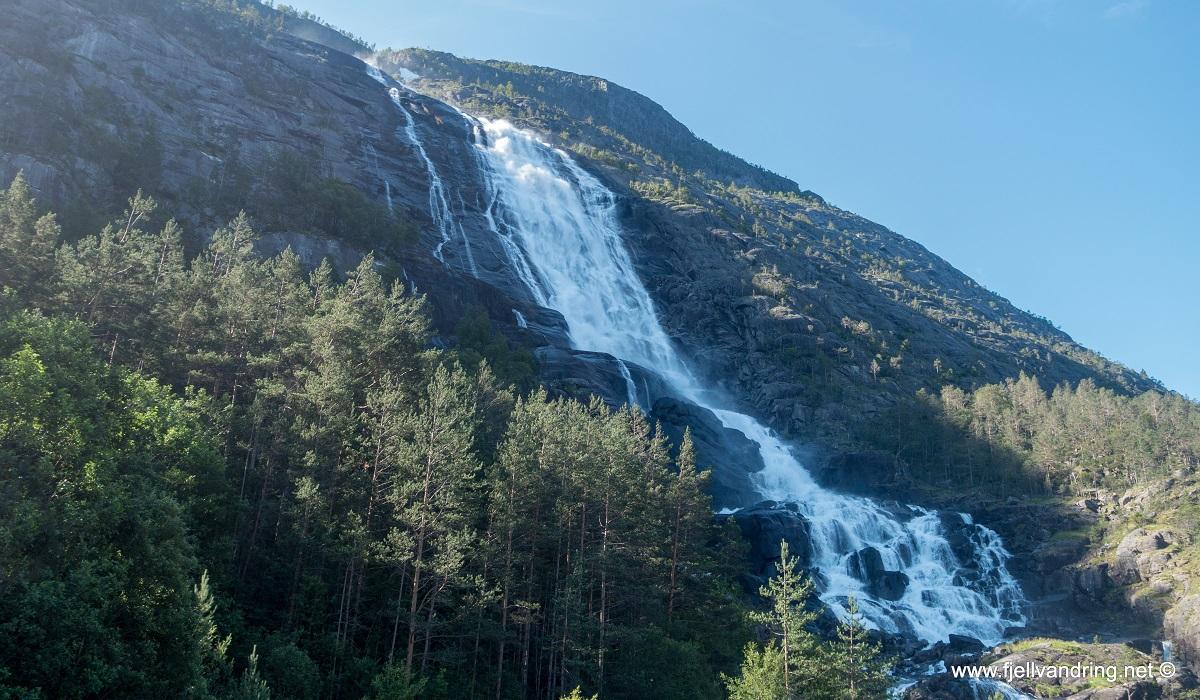 Langfoss - Et av Norges vakreste fossefall