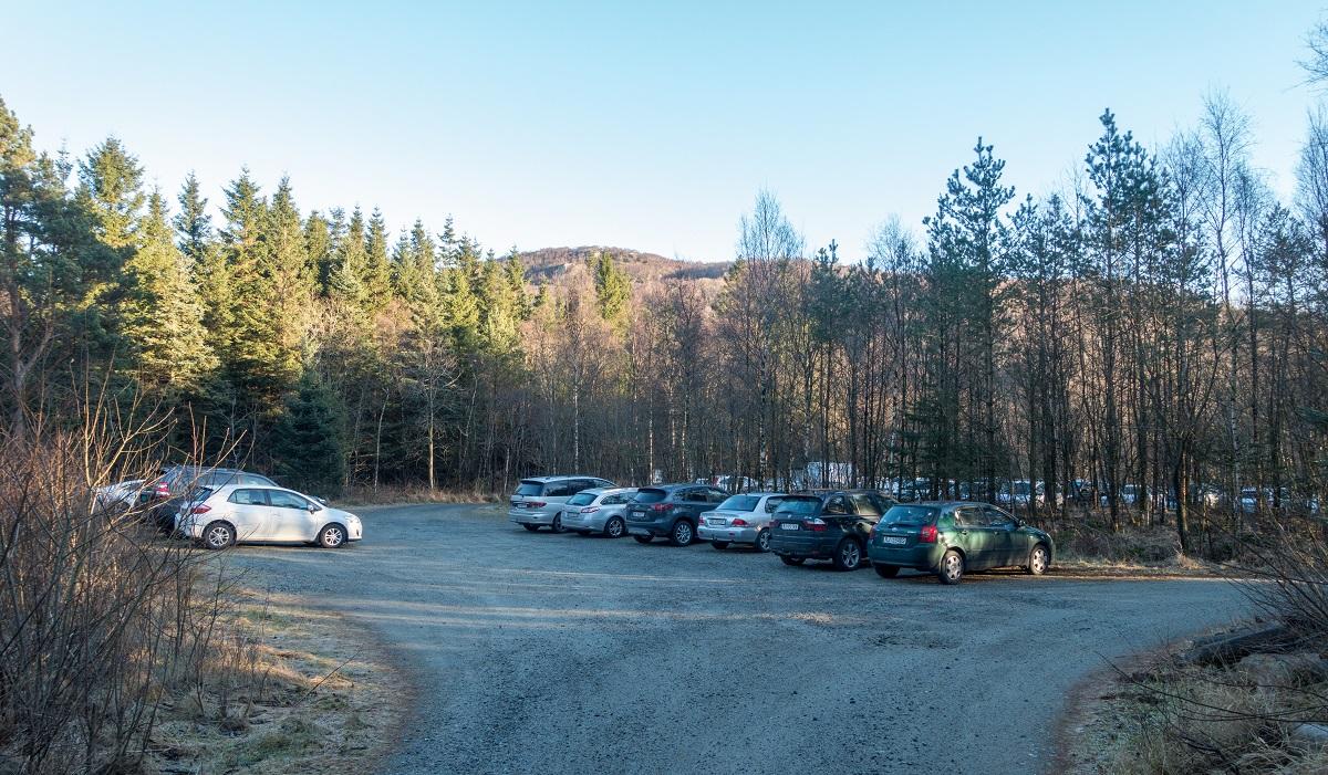 Lyngaland - Parkering i Sælandskogen