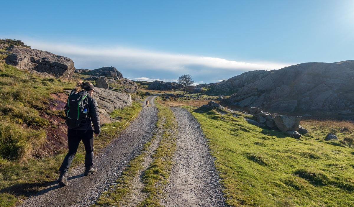Musahålå - Silje og jeg på tur fra Herredsvela
