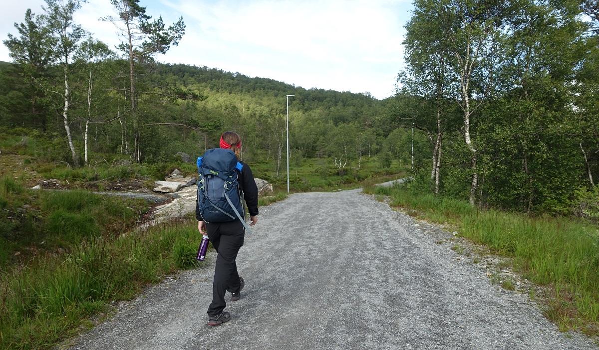 Olalia Fjellstove - Grusvei frem til hytta