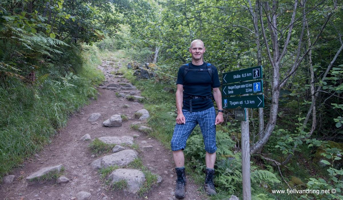 Skålatårnet - Bjørn Tore og jeg er klare til topptur