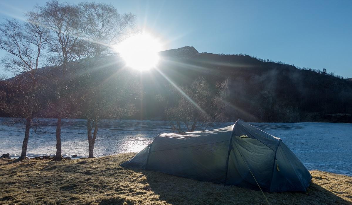 Slettabø - Telttur en kald vinternatt