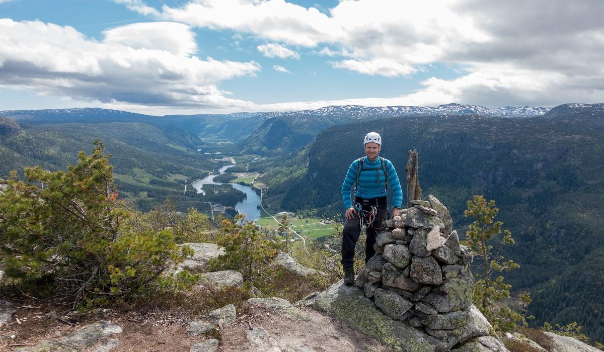 Via Ferrata Straumsfjellet - Endelig på toppen!