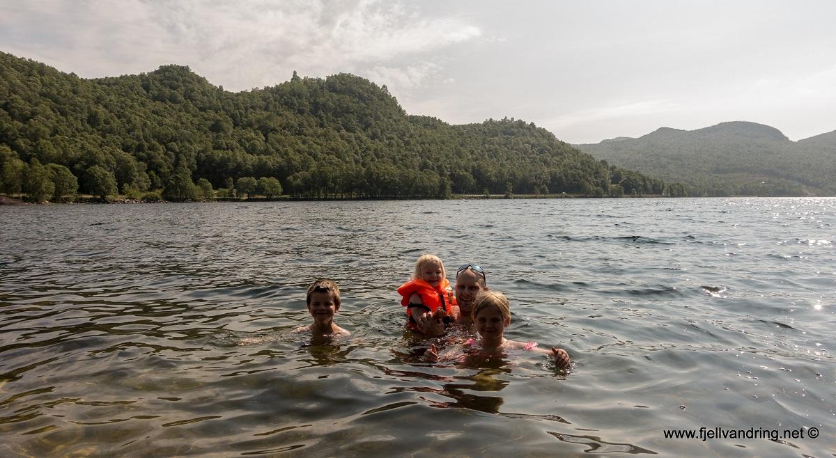 Tengesdalsvatnet - Badetemperatur i vannet