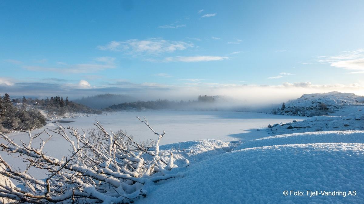 Lyefjellet - Nydelig vinterdag med Ulvatjørna