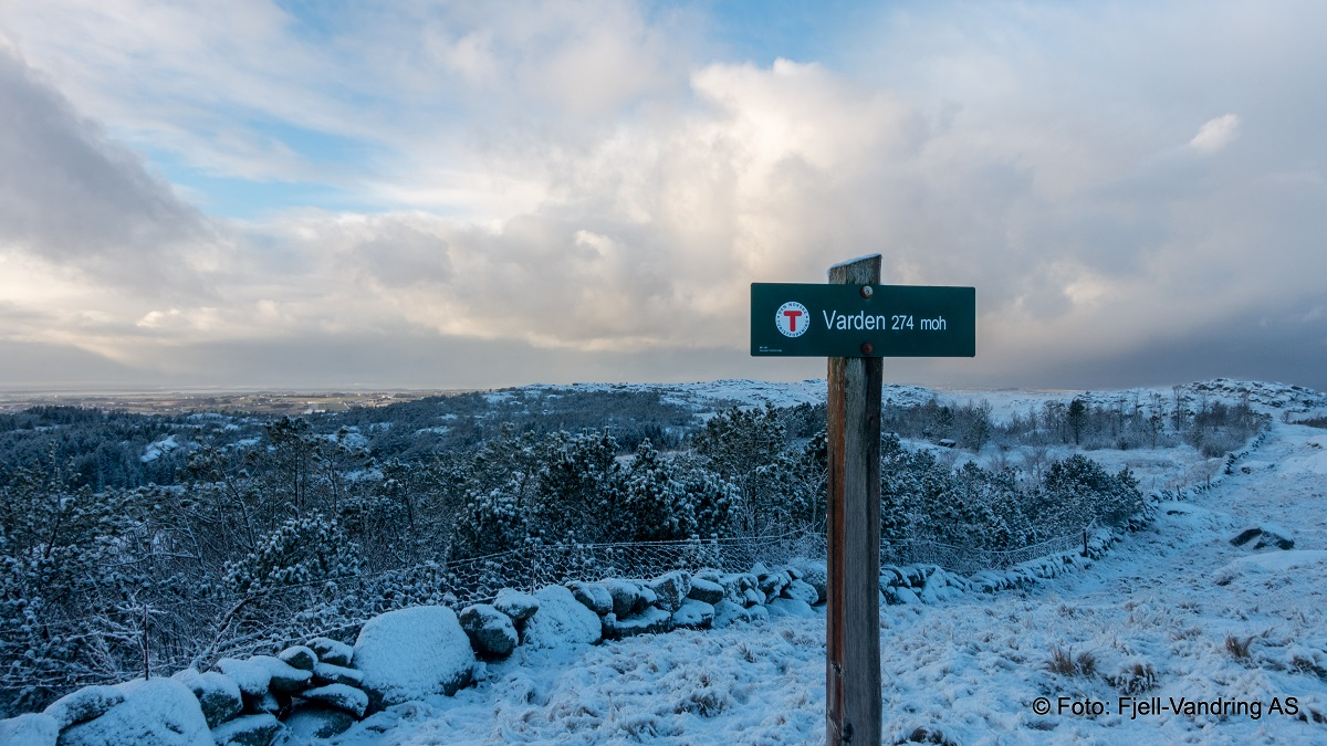 Lyefjellet - Vid utsikt fra Varden 274 moh