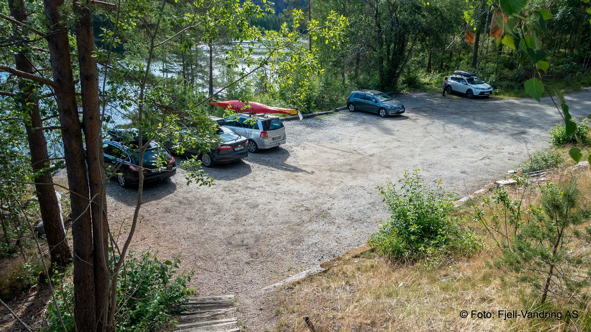 Tømmerrenna i Vennesla - Parkering
