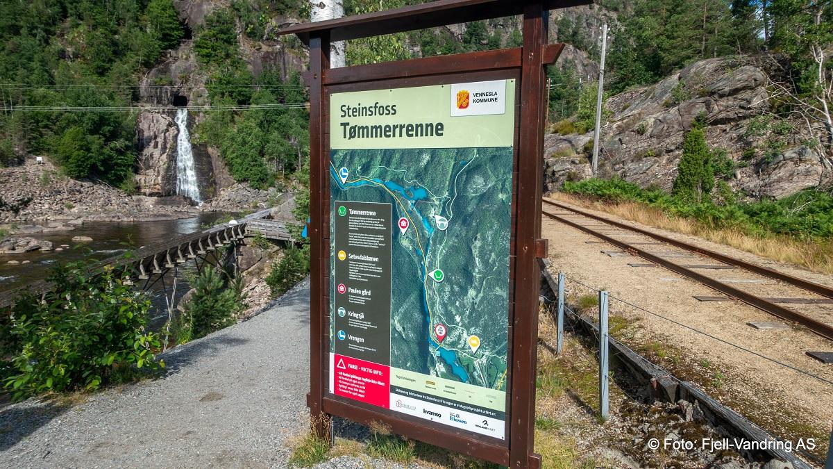 Tømmerrenna i Vennesla - Turstart ved Steinsland